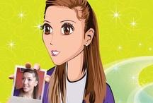 Manga Style / Dein Portrait im Manga Style. Auf Leinwand und Poster ganz individuell.
