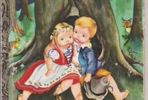 Vintage Children's Library Shelf/Art/Packaging / Classic/Vintage Children's Book Covers and Illustrations