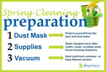 Cleaning Tips & Allergy Products / Helpful hints on Spring Cleaning with allergies in mind.