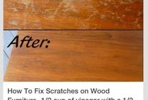 Wood scratches