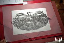 Dibujos de artesonados / Algunos de los artesonados más característicos de la carpintería histórica española, dibujados por el Dr. Arquitecto Enrique Nuere.