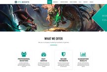 Gaming website design / Website design of a professional service offered for League of Legends players. Isn't it interesting?