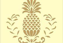 Desenhos Stecil e silk