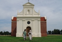 Digs the Brick Chapel of 1667 / The founding place of the Roman Catholic Church in English America, this chapel served as the focal point of Catholic faith in  Maryland until 1704. Come see this beautiful and accurate reconstruction.