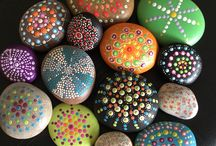 Dotty Art / Hand painted exquisite stones and pebbles from the Jurassic Coast. / by Julie Mariner