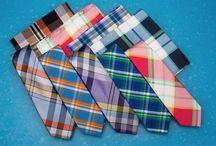 Madras Print Ties / Madras: Savor the Best of Summer with Wardrobe Staples.