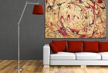 Ebru Sanatı / Ebru sanatı kanvas tabloları