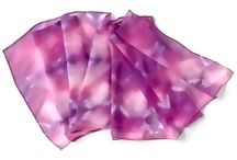 Silk Scarves Hand Painted by SilkMari / Silk painting, tie dye and batik one of a kind hand painted silk scarves.