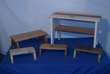 """benches / variety of different sizes, native woods of northern calif. and exotic woods.  combined together for a unique variety. from 4"""" tall to 16-18"""" heights, and different lengths.  the incorporation inlayed stones, utilizing knot holes and natural edges."""