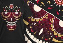Diseño serigrafia vector T-shirt