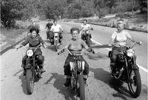 Retro motocycle womens