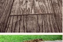 concrete wooden floors