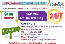 SAP PM Online Training by AcuteSoft with 10+ years SMEs.