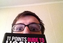 Posing With My Book / I wrote a book called the 11 Points Guide to Hooking Up. This board is a totally self-important collection of photos of people with the book.