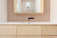 Bathrooms Using Coloured Tiles