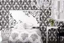 Black & White Rooms/Paris/Damask / by Bridget Fischer
