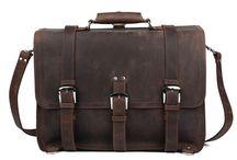 "Vintage Leather Laptop Bags 17"""