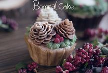 Winter cupcake/cake decoration