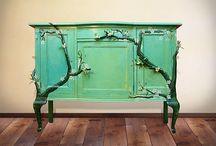 Beschilderde meubels