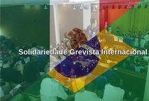 Solidariedade internacional dos grevistas / Reunião para formação do comitê de intercâmbio e solidariedade grevista dos trabalhadores da educação no Brasil e no México.