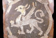 pottery - tiles - dragons