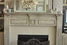 fireplace mantel paint