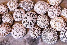 crochet stones