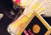 Disco Party / Patti Cassell 40th Surprise Birthday Colors are Hot Pink (fuchsia) and Gold