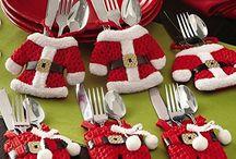 Santas cutlery set