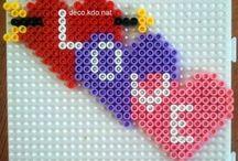 Kærlighed hjerte i perler