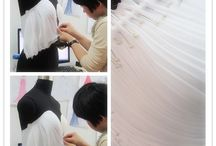 Pleating and ruching