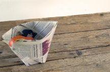 Abfalltüte aus Zeitungspapier
