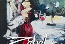 Toiles collection Romance et Musique / Toiles 100% spatules. Inspirées de la romance et la musique. Boutique en ligne disponible au www.zabel.ca  Livraison internationnale