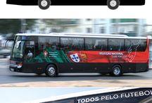 Outros trabalhos... / Layout de decoração de Bus Oficial FPF - Selecção Nacional