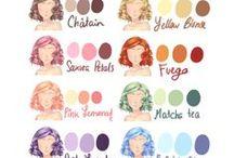 Cartes de couleur pour les cheveux