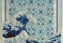 Patchwork - bouře na moři