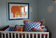 Orange and Blue Nursery