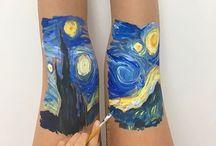 pintura en cuerpo