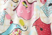 Children's fabrics / Ideas for children's rooms - contemporary and traditional.