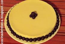 Recetas de tartas y bizcochos / Recetas de cocina paso a paso para elaborar todo tipo de tartas, pasteles y bizcochos | Cake recipes