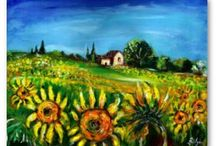 TUSCANY LANDSCAPES / Fine art  Landscape Paintings Collection
