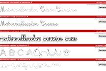 Fonts-Fuentes / Tipos de letras para que los niños desarrollen la lectoescritura.
