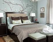 Blue and brown bedrooms/rooms