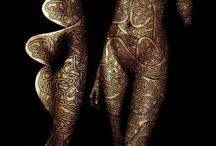 Stunning body painting / Stunning masterpieces! Dazzling body paintings!