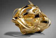 3D printed jewelry, constructivism / Бионические формы на 3D
