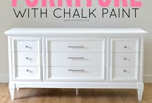 Chalk Paint and shabby chic furniture
