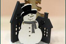 Téli dekorációk/Winter decorations