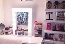 vanity setup