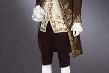 1700-1800 Man and Womans clothing Brown colour
