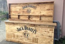 www.thecornishreclamationcompany.com / Amazing reclaimed wood products! (Jack Daniels logo not available.) Please contact me for available logo options and personalised bars and shelves.